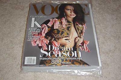 Kendall Jenner September 2016 Vogue Magazine New   Partially Sealed 800 Pages