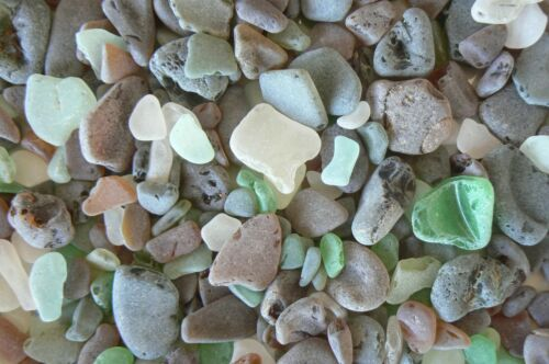 GUANTANAMO BAY SEA GLASS Beach Glass About  1.4 pounds Unsorted Surf Tumbled