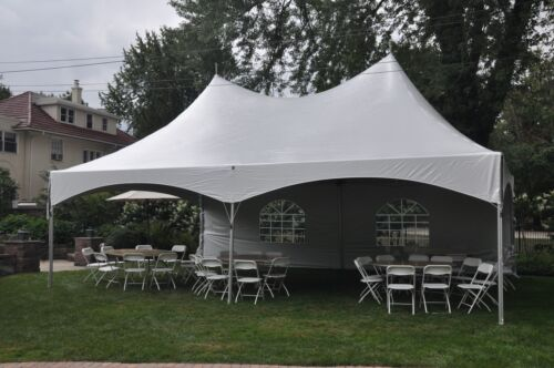 NEW 20 x 30 White Canopy Tent High Peak Frame Tent Party Event Wedding Marquee