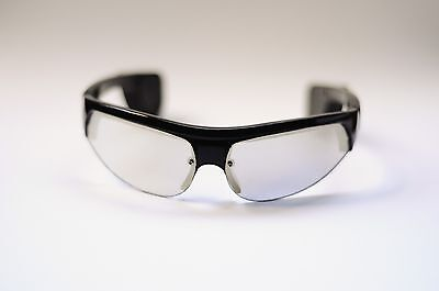 GENERIC BLUE LED SIGNAL MIRROR LENS SAFETY SUNGLASSES BLACK NEW