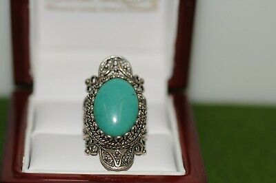 Beautiful Sterling Ring Natural Persian Turquoise  Persian Turquoise Ring