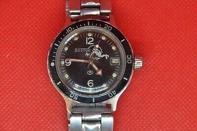 VINTAGE Vostok Amphibian automatic Diver watch SCUBA DUDE big dots 2416 serviced