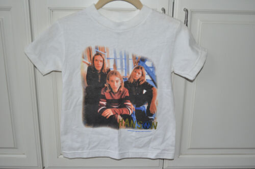 RARE BRAND NEW OFFICIAL Hanson 1998 Sitting On Steps Shirt! Childrens Size Small