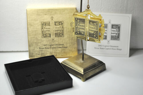 2002 Texas State Capitol Ornament with Original Box & Pamphlet