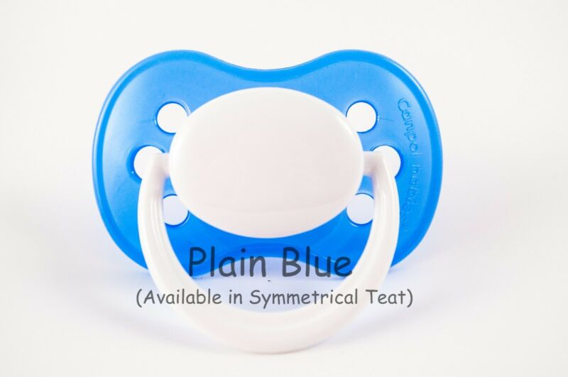 NAME /& CROWN P PERSONALISED DUMMY PACIFIER SOOTHER ALL TEATS,SIZES /& COLOURS