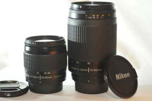 Nikon AF G Nikkor 28-80mm 70-300mm TWO FX lens SET for D850 DF D7500 D7800 D500