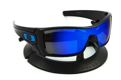 OAKLEY BATWOLF POLISHED BLACK *BLUE ICONS* FRAME / REVANT ICE POLARIZED CUSTOM