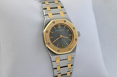 Ladies Audemars Piguet Royal Oak 18K yellow gold stainless steel, quartz, mint