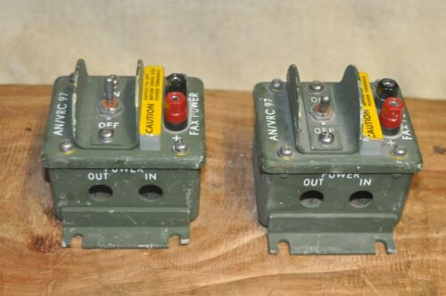 General Dynamics Power Switch For AN/VRC 97 Radio, NSN:5930-01-261-2896 Lot of 2