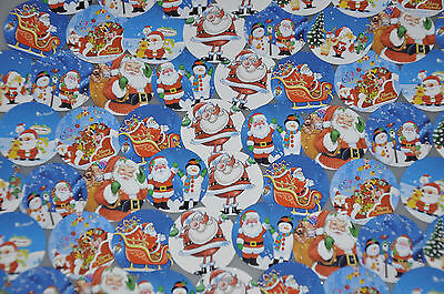 56  1  Precut   Santa Christmas Images  Adhesive Stickers  Peel   Stick