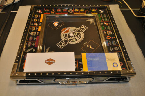 Very Rare Franklin Mint Harley Davidson Monopoly Board +COA Only /5,000 w/ Issue
