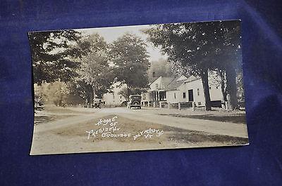 1924 RPPC Home of President Coolidge, Plymouht, Vermont Postcard
