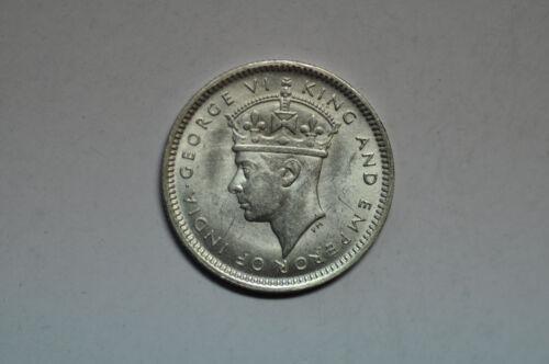 mw11150 Malaya; Silver 10 Cents 1943    KM#4a    BU