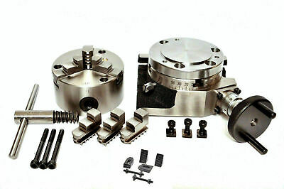 Rotary Table 4100mm With 80mm 3 Jaw Self Centering Chuck M6 Clamping Kit