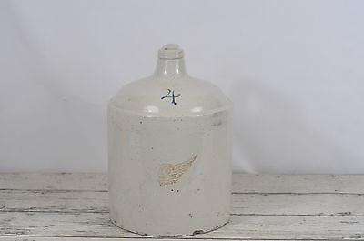 Antique 4 Gallon Red Wing Shoulder Stoneware Jug  No Oval Pottery Zinc -
