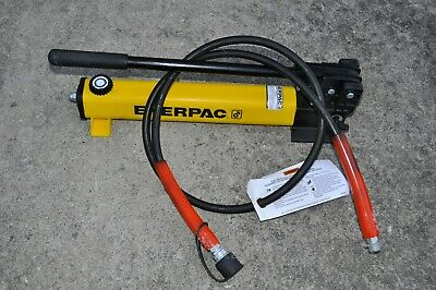Enerpac P392 Hydraulic Hand Pump 700 Bar10000 Psi W 8 Spx Hose Usa Made