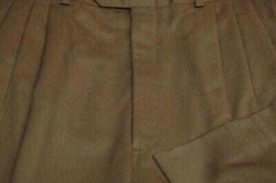 JB Britches Men's Olive Green All Season Wool Pleated Dress Pants 32 x 32