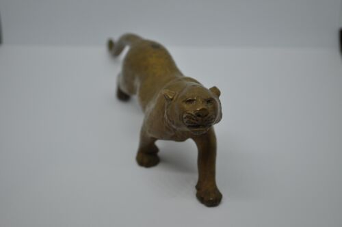 Antique Japanese Bronze Leopard, Signed