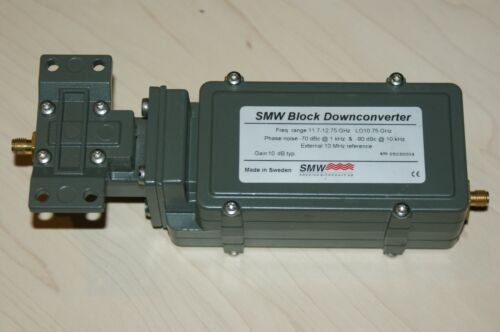 SMW Swedish Microwave Ku Block Downconverter 11.7 -12.75 GHz