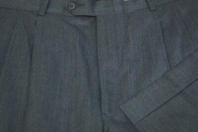 JB Britches Men's Charcoal Gray All Season Wool Pleated Dress Pants 38 x 30