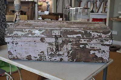 Vintage Metal Trunk painted in Pale Pink Storage Trunk