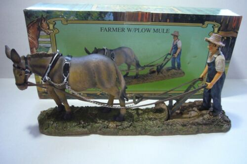 NIB COLLECTORS FARMER WITH WITH PLOW MULE - NEVER TAKEN OUT OF BOX TILL NOW