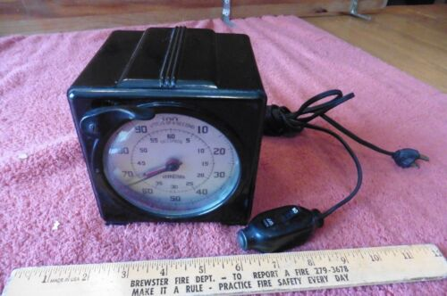 THE STANDARD ELECTRIC TIME CO PHOTOGRAPHIC PRECISION TIMER BAKELITE S-1 VINTAGE