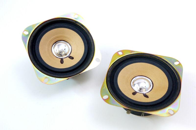2x Pioneer TS-100 Vintage Hifi Full Range Komplettboxen Car Speaker NOS