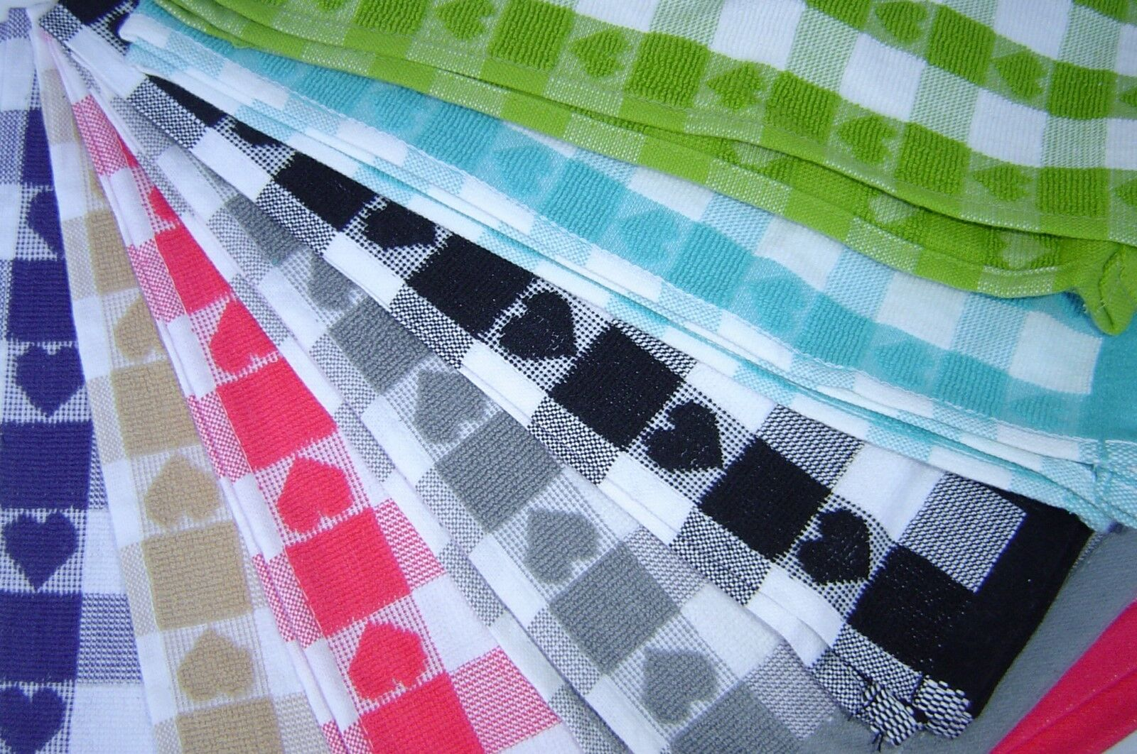 100% Cotton Kitchen Hand/Tea Towels.  Great for your Hands/D
