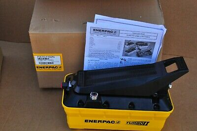 Enerpac Patg-1102n Turbo Ii Hydraulic Pump 2 Liter Res 3 Way Valve Treadle New