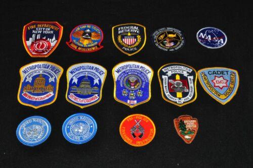 Lot Of 14 Patches Washington D.C. Metropolitan Police United Nations Cadet FBI T