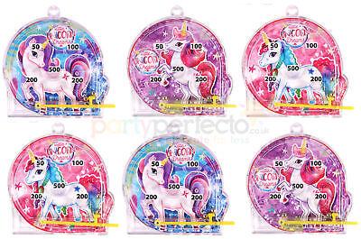 6 Unicorn Pinball Games - Pinata Toy Loot/Party Bag Fillers Wedding/Kids Girl