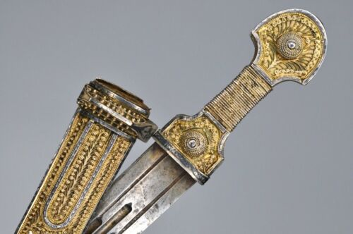 Antique Georgian Dagger Caucasian Kindjal Russian Sword Silver