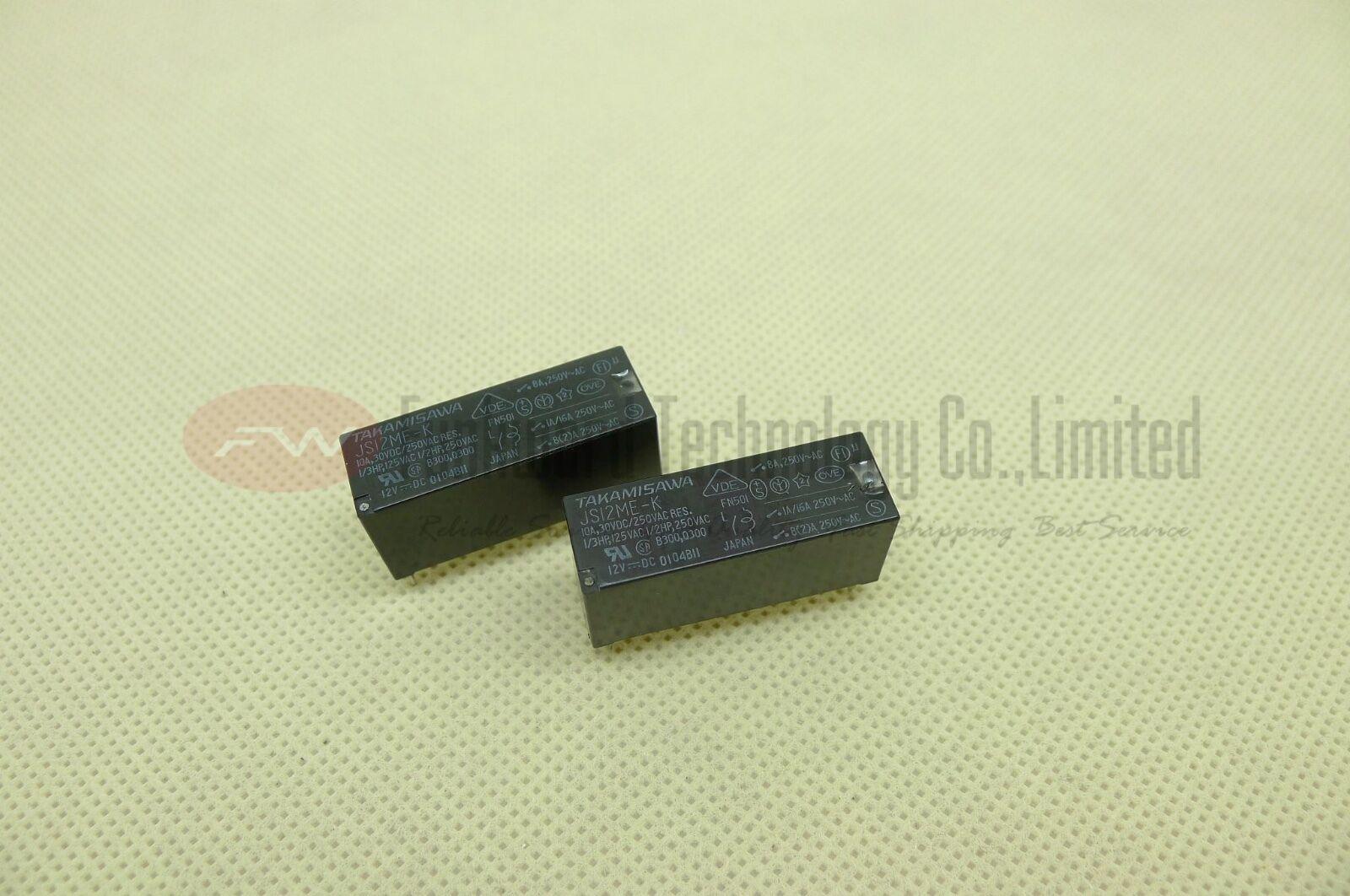 TAKAMISAWA JS12M-K JS12ME-K SPST Power Relay 10A 12VDC x 2pcs