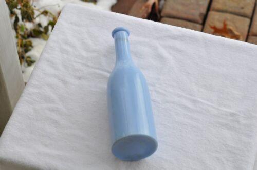 Lt.Blue Milk glass Barber bottle (base embossed Theo A. Kochs Chicago)