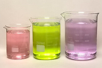 3 Beaker Set 1000 2000 3000 Ml Griffin Graduated Borosilicate Glass Beakers Lab