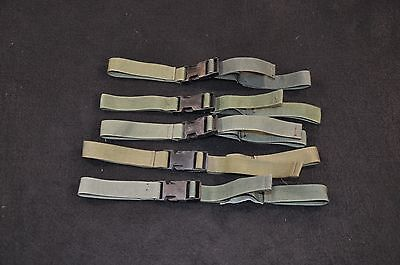 Lot of 5 USGI Alice Field Pack Sternum Straps, Issued, OD Green