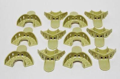Dental Grillz Lower Anterior Teeth Plastic Mold Impression Trays La 10 12bag