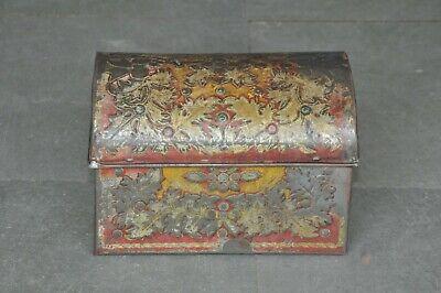 Vintage ' The Lipton Casket' Embossed Litho Print Jewellery Tin Box