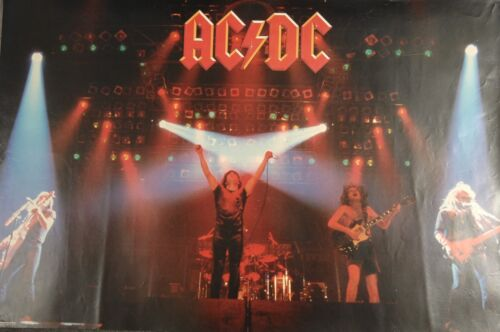 "AC/DC Poster For Those About To Rock Original1981 32"" X 21"" Vintage"