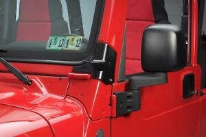 Smittybilt Windshield Hinge Light Brackets 97-06 Jeep Wrangler TJ (NO HARDWARE)