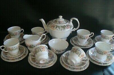 PARAGON Country Lane China Teaset Teapot 8 Trios & 8 Side Plates Sugar Bowl Jug Paragon Country Lane