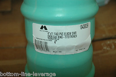 Ipex 4 Ring Tite Gasketed Sewer Fitting 11.25 Deg Elbow Pvc Gxg Dr35 043839