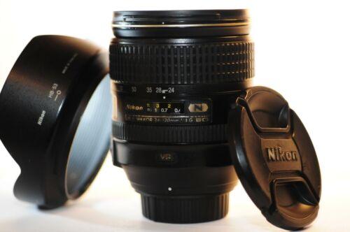 Nikon N ED AF-S Nikkor 24-120mm f/4 G VR FX lens HB-53 for F100 F6 DF D750 D850