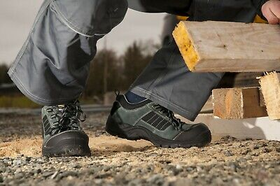 Composite Safety Toe Shoes - Safety Work Shoes Composite Toe Cap Hiker Trekker Leather Boots ASTM, NEW FC64
