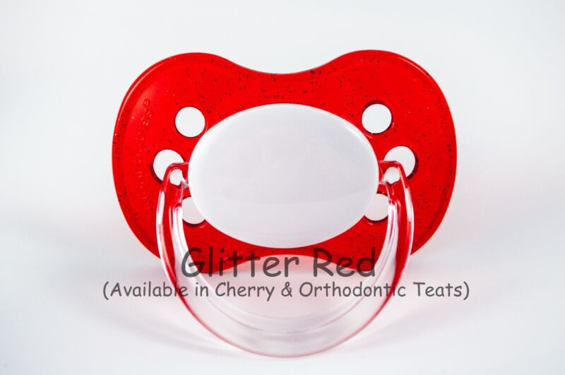 ALL TEATS,SIZES /& COLOURS PINK FLORAL PERSONALISED DUMMY PACIFIER SOOTHER