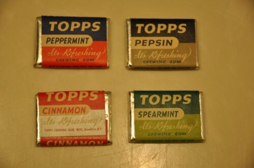 RARE 1948 TOPPS UNOPENED One Cent GUM PACKS-ALL 4 FLAVORS