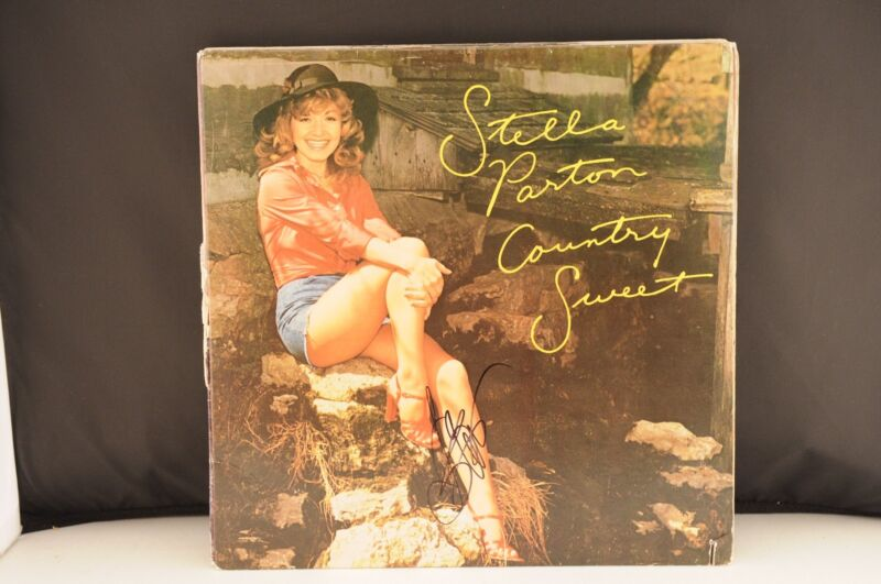 Stella Parton Country Sweet Autographed Signed LP Record Album PSA Guaranteed