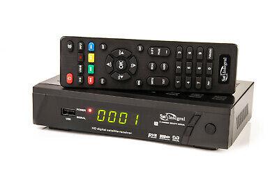 Receptor satélite Full HD SatIntegral S1268 HEAVY METAL, con adaptador USB-LAN