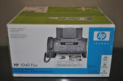 Brand New Never Used Hp 1040 Inkjet Fax Machine With Built-in Phone Scan Print